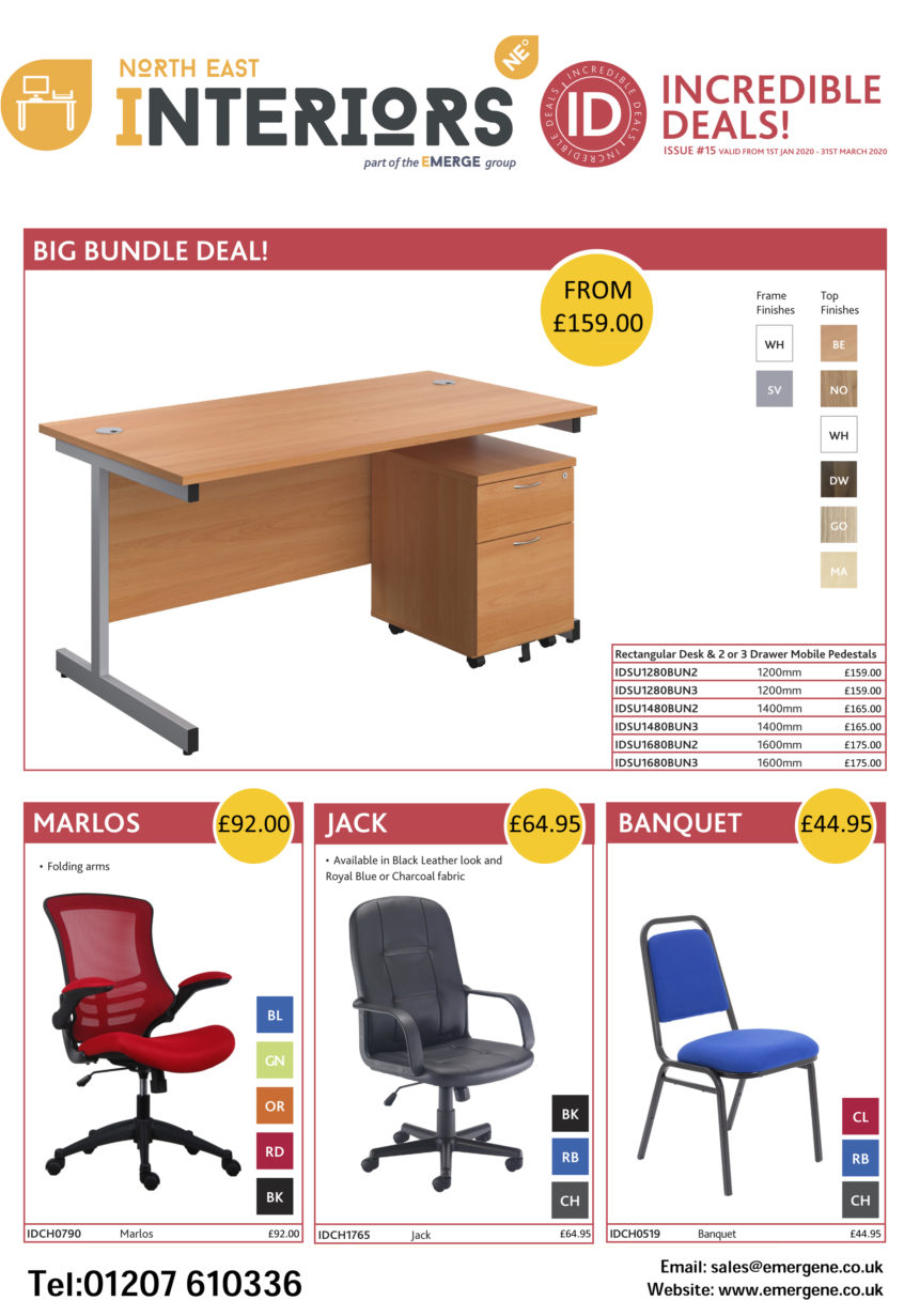 Q1 Incredible Deals Furniture Offer - Emerge North East