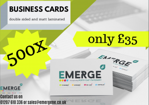 Business cards 500 for £35