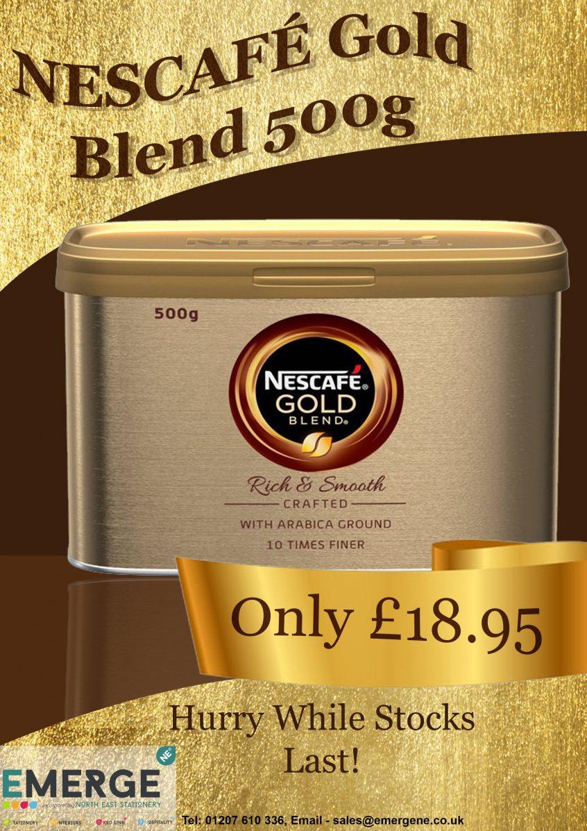 Nescafe Gold Blend 500g only £18.95
