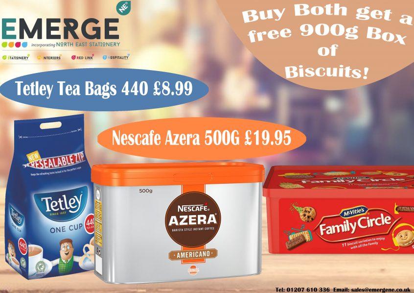 Tetley Tea Bags and Nescafe Azera Special Offer