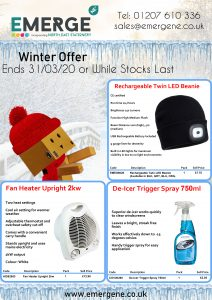 Emerge North East - Winter Offer_Valid from 31/03/20 or While Stocks Last