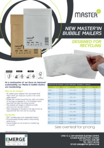 New Masterin Bubble Mailers