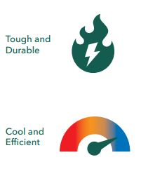 Benefits of using SSds - tough and durable, cool and efficient