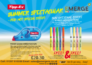 Buy Tipp-Ex Mouse Correction Tape PK10 for £20.30 and get 5 free highlighter grip and 4 free highlighter grip pastels